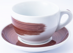 "Чашка cappuccino large 260 мл Brown stroke B ""Verona Millecolori Hand Painted Brush stroke B Brown w"